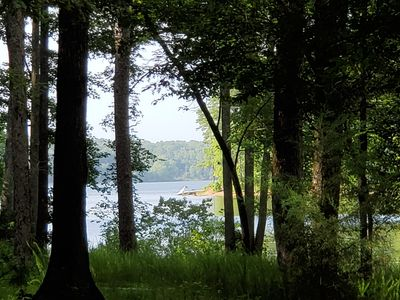 A view of Lake Ouachita from the property.  Simply serene and magical.