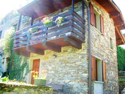Photo for » Idyllic at the foot of Mount Legnone  » enjoy typical Lombardy life in a village hillside location