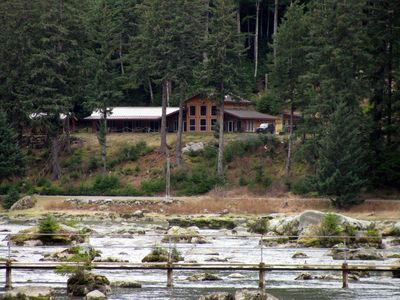 Photo for Chilkoot Haven in Haines, room #1, right on the Chilkoot River, hot tub, BBQ