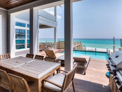 Photo for 95 Chivas Amazing Gulf Front 30A Seagrove Beach House w/ PRIVATE POOL + BIKES!