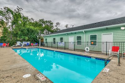 Shared Pool for 4 units. Each unit is 8 bedrooms, 8 bathrooms, sleeps 22.