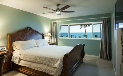 Master Bedroom with Panoramic Ocean View and HD TV