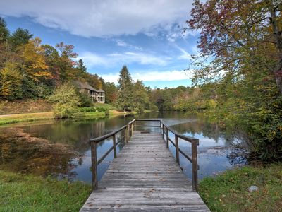 Photo for Lake Serenity - One of a kind large estate overlooking private lake! Minutes to Nat'l forests!