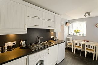 Kitchen with seating for four and freeview TV