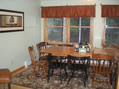 Separate Dining Room with Seating for Twelve.