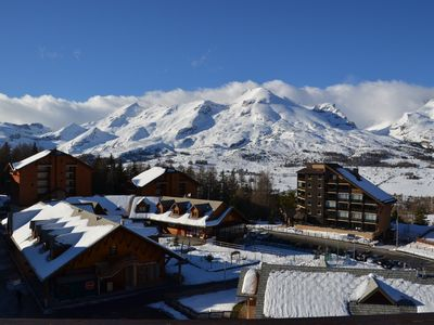 Photo for VERY BRIGHT APARTMENT, AT THE FOOT OF THE SLOPES AND IN THE CENTER OF THE STATION