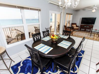 Enjoy a hearty meal  - You can actually see dolphins swimming while eating at the table.