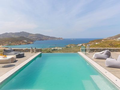 Photo for Villa Allison in Ftelia, Mykonos, with sea view, private pool, 3 bedrooms, 6 sleeps