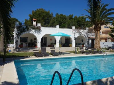 Photo for Tres Cales, Villa with private pool 6x11 m, 11 pers, airconditioning