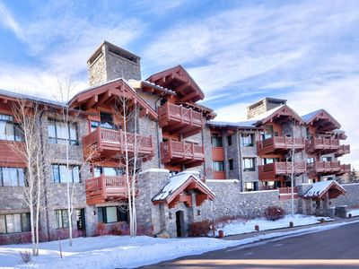 Photo for Luxurious ski-in/out location  with grand mountain views, hot tub & workout room