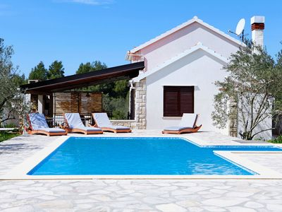 Photo for ctko 216- The house with pool consists of 3 bedrooms and 1 bathroom and can accommodate up to 6 people
