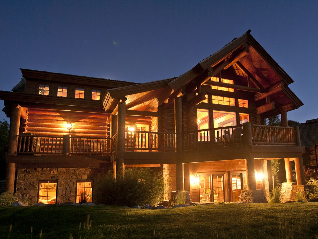 Luxury 5 bedroom cabin at teton springs s homeaway for Teton cabin rentals