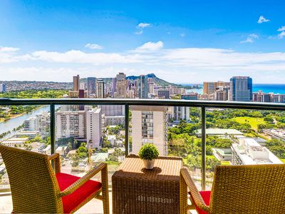 Photo for Wonderful Waikiki 2 Bed / 2 Bath / 2 Parking on high floor w/ lanai