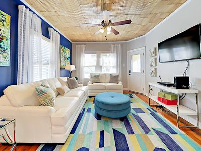 Living Room  - Welcome to Galveston! This home is professionally managed by TurnKey Vacation Rentals.