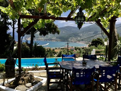 Photo for Skopelos, Romantic Cottage with private pool and gardens with amazing views
