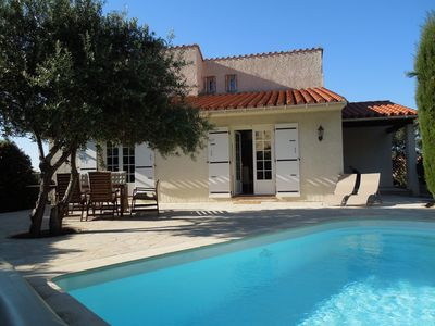 Photo for House classified 4 *, quiet, 4 bedrooms, heated pool, air conditioning, Wifi