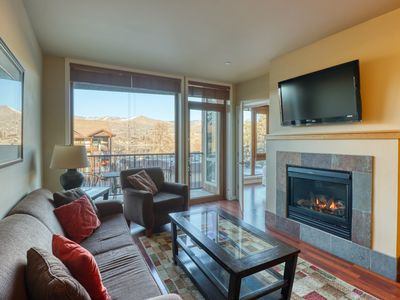 Photo for Luxury suite w/ private balcony mountain views, shared indoor pool/hot tub