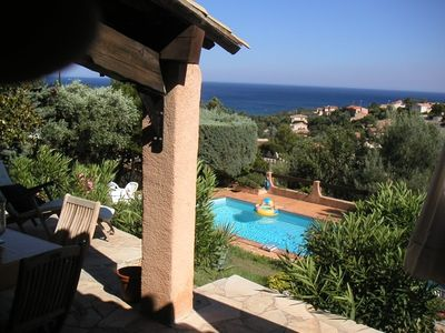 Photo for nice villa with pool and ocean view
