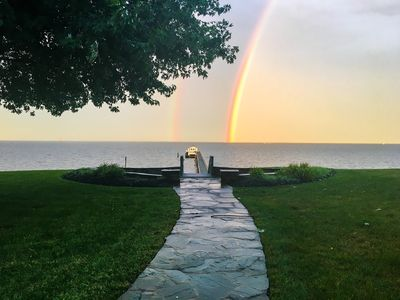 double rainbow-- a view from the yard