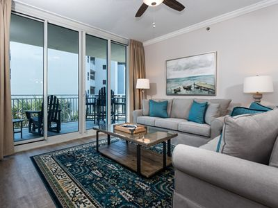 Photo for Elegant, beach-chic condo at Waterscape! Free beach chairs! Waterfall + lazy river on-site!