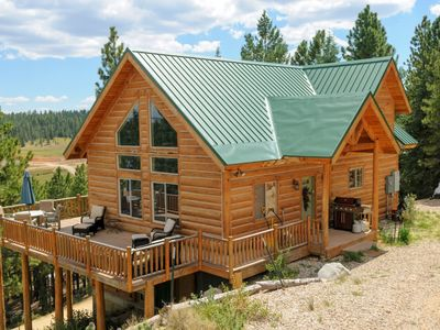 Photo for Beautiful pet friendly cabin with large wrap around deck! Relax and take in the stunning views and t