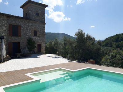 Photo for Casperia: Unique medieval stone-house with character & panoramic garden just 45-min drive from Rome