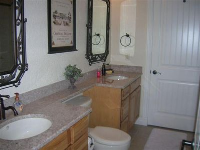 Master - Double Granite Countertops, Jacuzzi Tub and Walk In Shower