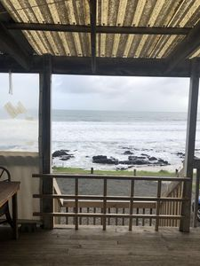 High tide view from deck