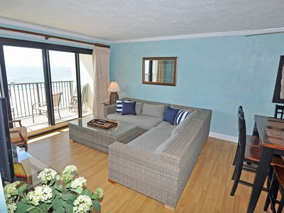 Photo for Oceanfront in Springs Towers 3BR/2BA. One block from Cherry Grove stoplight