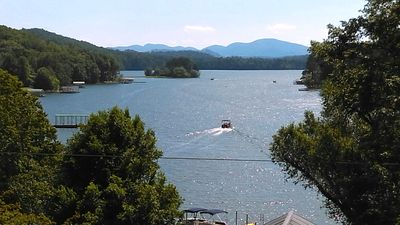 Amazing Long Range Lake and Mountain Views from the Covered Deck