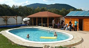 MODERN  CHALET SLEEPS UP TO 18. PRIVATE BAR & SWIMMING POOL.FAMILY FRIENDLY