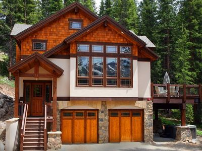 Photo for Luxury Ski House  - Views, privacy, hot tub, 7 min from town,  Sleeps 10-12