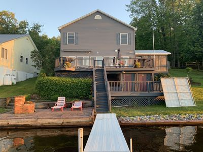 Panther Lake Waterfront Year-round House with dock and deck, on the water.