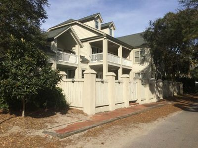 Photo for Ocean View, 3-Patio, 6BR, 6300sf Home w/Pool; 50 Steps to Beach, Coligny Circle!