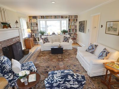 Photo for Charming East Hampton cottage on large property; steps to village