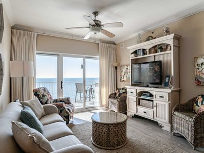 Photo for Beach Front Condo with Incredible Views! ~ Private Balcony and Great Resort Amenities !