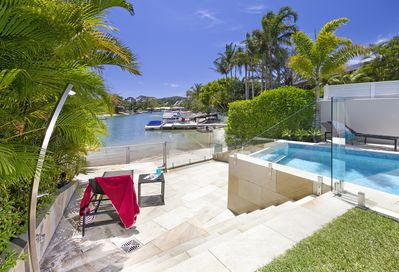 Step out onto the sand from your own beach,  pool gardens and beach fully gated