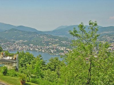Photo for Apartment 1.4 km from the center of Lugano with Parking, Washing machine, Pool, Balcony (52329)
