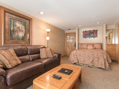 Photo for Ski-in/ski-out Studio! Queen Bed 1 Block to Main St Pool/Hot Tubs Sauna