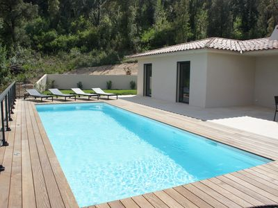 Photo for **** Modern villa heated pool, ideally located, sea and mountain views