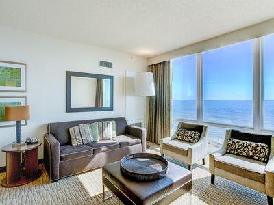 Photo for Beautiful Ocean Front Suite w/ Private Balcony, Free WiFi & Resort Pools