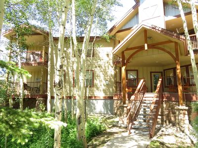 Photo for Beautiful End Unit- Elevator, Garage, 2 Decks. Near Dining, Shops, Activities