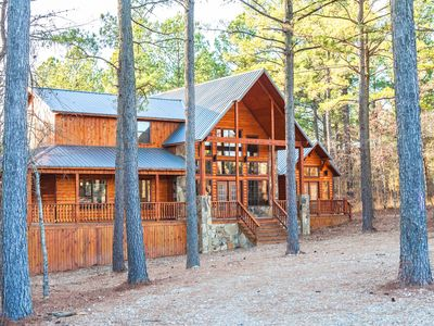 Photo for Brand New Broken Bow Cabin in the Woods w/gorgeous views & NEW HOT TUB
