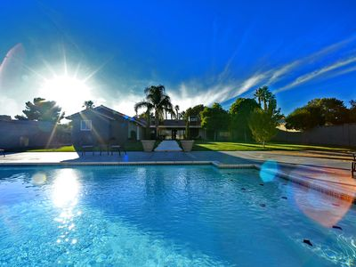 GORGEOUS CONTEMPORARY HOME WITH STUNNING STRIP VIEWS AND RESORT STYLE POOL !