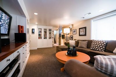 Enjoy the sunshine in the entertainment space.