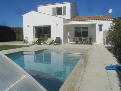 Photo for Beautiful 4 * house, close to the sea, super equipped, private pool, wifi