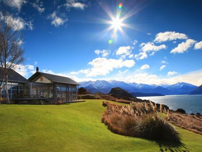 Photo for Stunning lake and mountain views from this luxury lodge