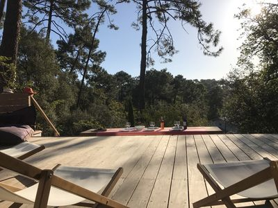 Photo for Beautiful villa on the dune grass, large wooden deck, 10 people