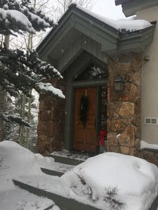 The private entrance and driveway are maintained year round by the HOA