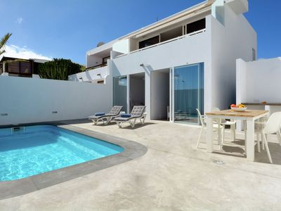 Photo for Semi-detached villa with private pool, just 300 meters from Playa Chica